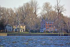 Old Homesteads on the Burlington, NJ, Waterfront.