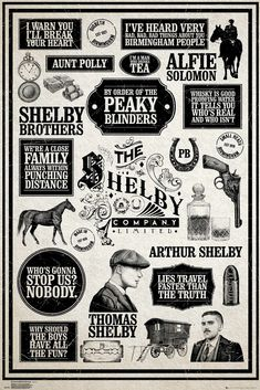 Peaky Blinders - Infographic Poster x cm Serie Peaky Blinders, Peaky Blinders Theme, Peaky Blinders Poster, Peaky Blinders Wallpaper, Peaky Blinders Quotes, Cillian Murphy Peaky Blinders, Peeky Blinders, Alfie Solomons, Film Poster Design