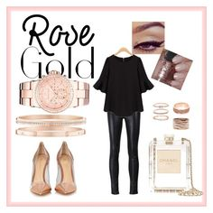 """""""#rosegold"""" by karmhe on Polyvore featuring mode, Unravel, Gianvito Rossi, River Island, Harry Winston, Repossi, Accessorize, WithChic, Chanel et Michael Kors"""