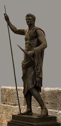 SPQR — theancientwayoflife: ~ Emperor Augustus as a nude...