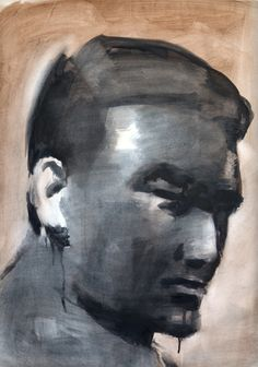 Portrait of Ahti, drawings from Florence, ink and watercolor, 2009