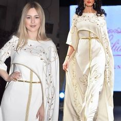 Moroccan Caftan, Moroccan Style, Lovely Dresses, Beautiful Outfits, Womens Linen Clothing, Oriental Fashion, Designer Dresses, Fashion Dresses, Girls Dresses