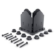 Includes: 1 Post Base Plate; 4 Decorative Plates; 8 Hex Cap Nuts; (8) 2-3/4 in. OWT Timber Screws. Fits all standard 6 by 6 in. from 5-1/2 in. up to 6 in. square. Can be mounted to concrete, wood, stone or Oz-post (surface mounting hardware not included). 3/16 in. thick hot dipped galvanized and powder coated steel. OZCO 6 in. x 6 in. Laredo Sunset Galvanized Black Powder Coated Steel Post Base Connector Kit, 1/Box | 56608 Wooden Pergola, Outdoor Pergola, Backyard Pergola, Patio Roof, Pergola Plans, Pergola Kits, Pergola Ideas, Pergola Lighting, Small Pergola