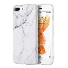 DW Premium TRNDY Apple iPhone 7 Plus Case - White Marble