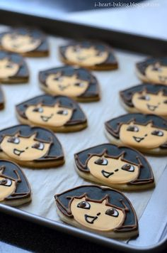 i heart baking!: dora the explorer cookies