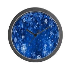Snowflakes_Background_Texture Wall Clock