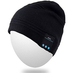 Qshell Wireless Bluetooth Headset Music Beanie Women Men Winter Knitted Hat Trendy Cap with Speaker  Noise Cancelling Mic for Running SportsCompatible with Iphone SamsungBest Christmas Gifts Black ** For more information, visit image link-affiliate link. #ChristmasGiftsForMen