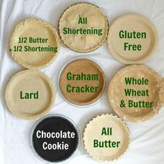 Traditional Perfect Pie Crusts This is your ULTIMATE guide to making a perfect pie crust! It has 4 great recipes – traditional, whole wheat, graham cracker & chocolate cookie crusts. Dutch Apple Pie CheesecakChocolate Pie CrustVegan Peanut Butter Cup P Easy Pie Crust, Pie Crust Recipes, Pie Crusts, Best Pie Crust Recipe, Pie Dough Recipe, Pie Crust Recipe With Margarine, Pie Crust With Lard, Pie Crust With Shortening, Quiche Crust Recipe