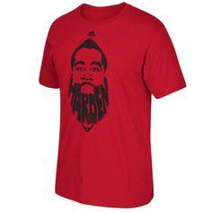 Men s Houston Rockets James Harden adidas Red Harden Beard T-Shirt 3dfe0c4d9