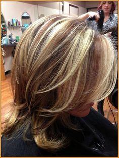 blonde highlights on dark hair - Google Search