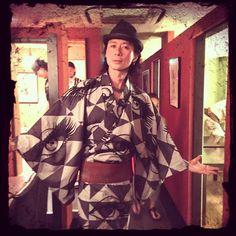 Kimono Style,you know? 祭りに相応しい、ユカタ姿で街をみんなで闊歩(^^) ステキなオフでした♫ #Kimono #浴衣 #祭 #off
