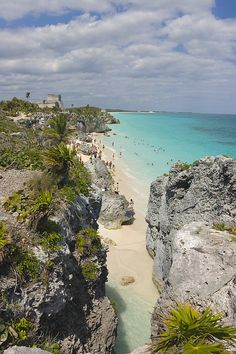 Tulum Ruins along de coast, Yucatan, Yucatan Peninsula_ Mexico Oh The Places You'll Go, Places To Travel, Places To Visit, Travel Destinations, Tulum Ruins, Tulum Mexico, Mexico Travel, Adventure Is Out There, Dream Vacations
