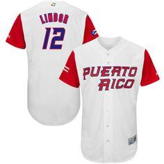 a081d45bf57 Men s Puerto Rico Baseball Francisco Lindor Majestic White 2017 World  Baseball Classic Authentic Jersey Puerto Rico