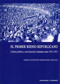 El primer bienio republicano : cultura política y movilización ciudadana entre 1931-1933: http://kmelot.biblioteca.udc.es/record=b1541443~S1*gag