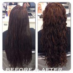 - Perm on long hair! Deciding if I should get a perm… Perm on long hair! Deciding if I should get a perm… Spiral Perm Long Hair, Long Perm, Permed Hairstyles, Twist Hairstyles, Casual Hairstyles, Headband Hairstyles, Shortish Hair, Wavy Hair, Big Hair