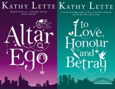 Kate Forrester has produced a series of book jackets for best selling author, Kathy Lette.