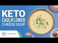 This simple recipe takes the classic flavours of cauliflower cheese and transforms them into a nourishing soup! Rich with cheddar and cream cheese, this keto. Cauliflower Cheese Soups, Keto Cauliflower, Low Carb Recipes, Soup Recipes, Keto Calculator, Low Carb Veggies, Diet Apps, Keto Soup, Food Diary