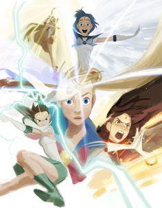 Sailor Moon and the Sailor Scouts by Minkyu Lee Sailor Moons, Sailor Jupiter, Sailor Venus, Sailor Moon Fan Art, Sailor Moon Usagi, Otaku Anime, Manga Anime, Anime Art, Sailor Scouts
