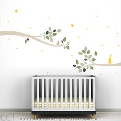Follow the Little Rabbit Tree Branches Wall Decal by LeoLittleLion, $69.00