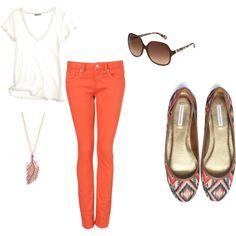 really cute even though Im not a fan of colored jeans jk I love colored jeans.