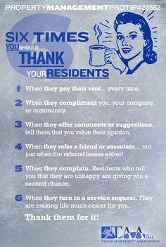 Six times you should thank your residents.