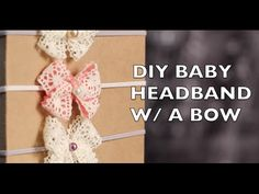 DIY How To Make A Baby Headband With A Bow, My Crafts and DIY Projects