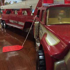 Long Fire Department Truck Toy