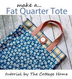 fat quarter tote tutorial. cute!