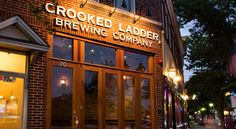 Crooked Ladder Brewing Company, Historic Downtown Riverhead, Long Island, June 2014 (my fave of the LI breweries this trip)
