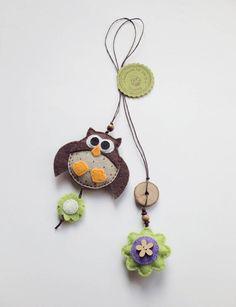 Big owl felt bookmark felt owl ornament by suyika on Etsy