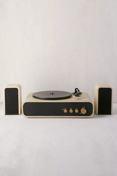 Crosley Gig 2-Speed Record Player With Speakers | Urban Outfitters Record Player Speakers, Record Players, Modern Record Player, Mp3 Player, Speaker Wire, Bluetooth Speakers, Urban Outfitters, Smooth Lines, Minimal Design