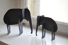 How to make a cardboard elephant