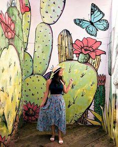 Summertime in the Bishop Arts District- a local, trendy Oak Cliff neighborhood Graffiti Art, Murals Street Art, Mural Wall Art, Mural Painting, Wall Paintings, Bishop Arts District Dallas, Motif Art Deco, Wall Drawing, Ouvrages D'art