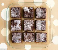 Posh plum brownies