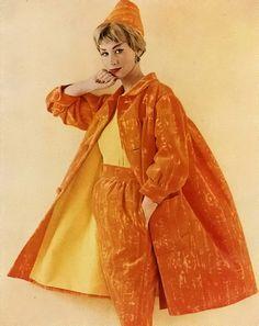 Another great coat ensemble: Harper's Bazaar 1959
