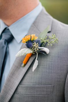 A rustic blue and orange wedding by Sarah Rose Burns Photography - Wedding Party
