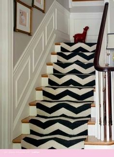 chevron stair runner by annamae24