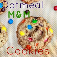 chewy oatmeal m cookies.