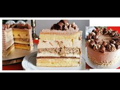 Romanian Desserts, Vanilla Cake, Tiramisu, Sweets, Ethnic Recipes, Videos, Food, Youtube, Pies