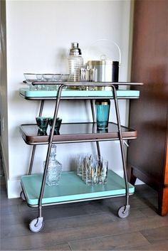 1970s Kitchen Remodel, Galley Kitchen Remodel, Ranch Kitchen, Kitchen Remodeling, Layout Design, Design Blog, Design Ideas, Mid Century Modern Bar Cart, Mid-century Modern