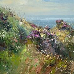 Rex PRESTON - July Afternoon, Priests Cove, Cornwall (nostalgia - we lived near there for 30 yrs)