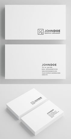 White Modern Business Card #branding #businesscardtemplates #businesscards #visitingcard