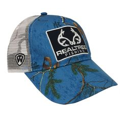 Limited Edition Custom Pro Staff Realtree Fishing Logo Blue Camo Mesh Back  Hat 77aa1d912a70