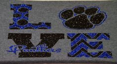SHS Love Panthers T-shirt - Youth by SmallTownHeat on Etsy