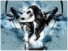 Skull Illustration by Russ Mills Skull Illustration, Painter Artist, English Artists, Pop Surrealism, Skull Art, State Art, Cool Artwork, Dark Art, Art Forms