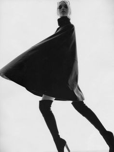 Pose, silhouette & movement - black & white fashion photography by Nick Knight // Vogue editorial