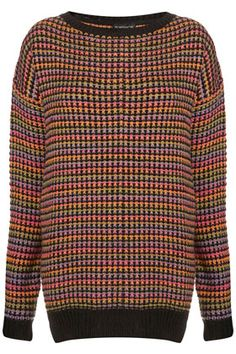 Knitted Rainbow Texture Grunge  topshop love!!