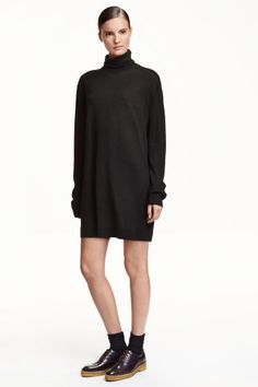 Camisola de gola alta em malha   H&M