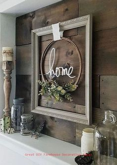 * home signs . home signs diy . home signs quotes . home signs with wreath . home signs wooden . home signs with interchangeable o . home signs diy rustic . home signs decor home signs with wreath Farmhouse Frames, Country Farmhouse Decor, Modern Farmhouse, Vintage Farmhouse, Farmhouse Ideas, Farmhouse Style, Farmhouse Fireplace, Modern Rustic, Farmhouse Furniture