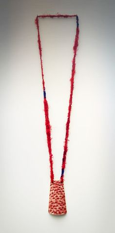 Long Necklace with recycled saris   11 1 By Fotini Rozi